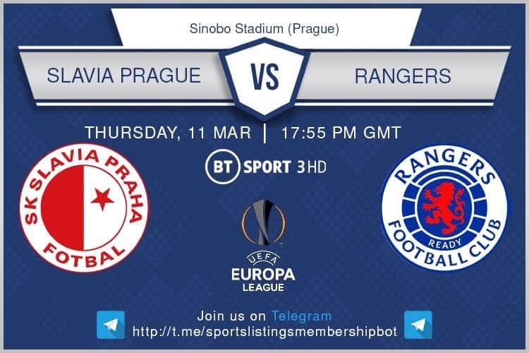 Europa League 11/3/2021 - Slavia Prague v Rangers