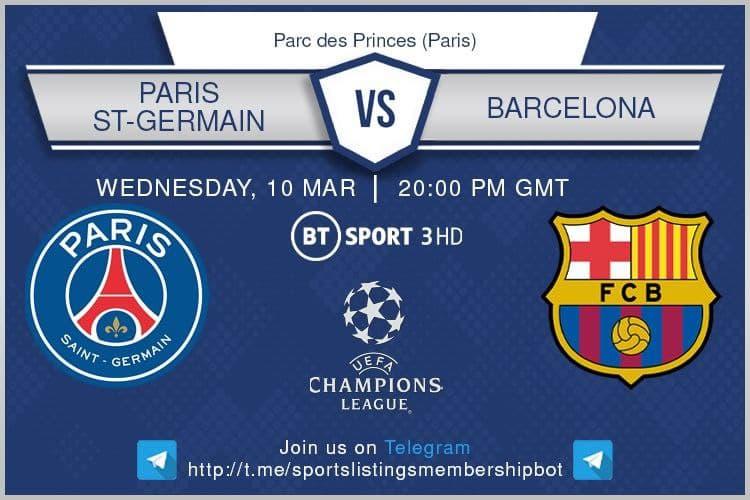 PSG v Barcelona / beIN Sports 1 English / DAZN/ Optus Sport 2
