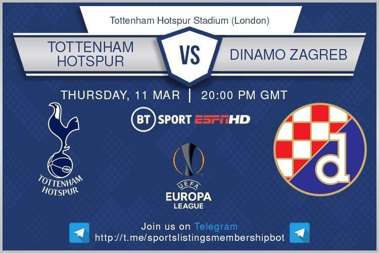 Europa League 11/3/2021 - Tottenham v Dinamo Zagreb