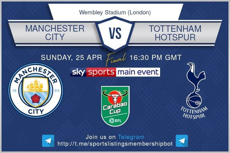 Carabao Cup & Others 25/4/2021 -Manchester City v Tottenham