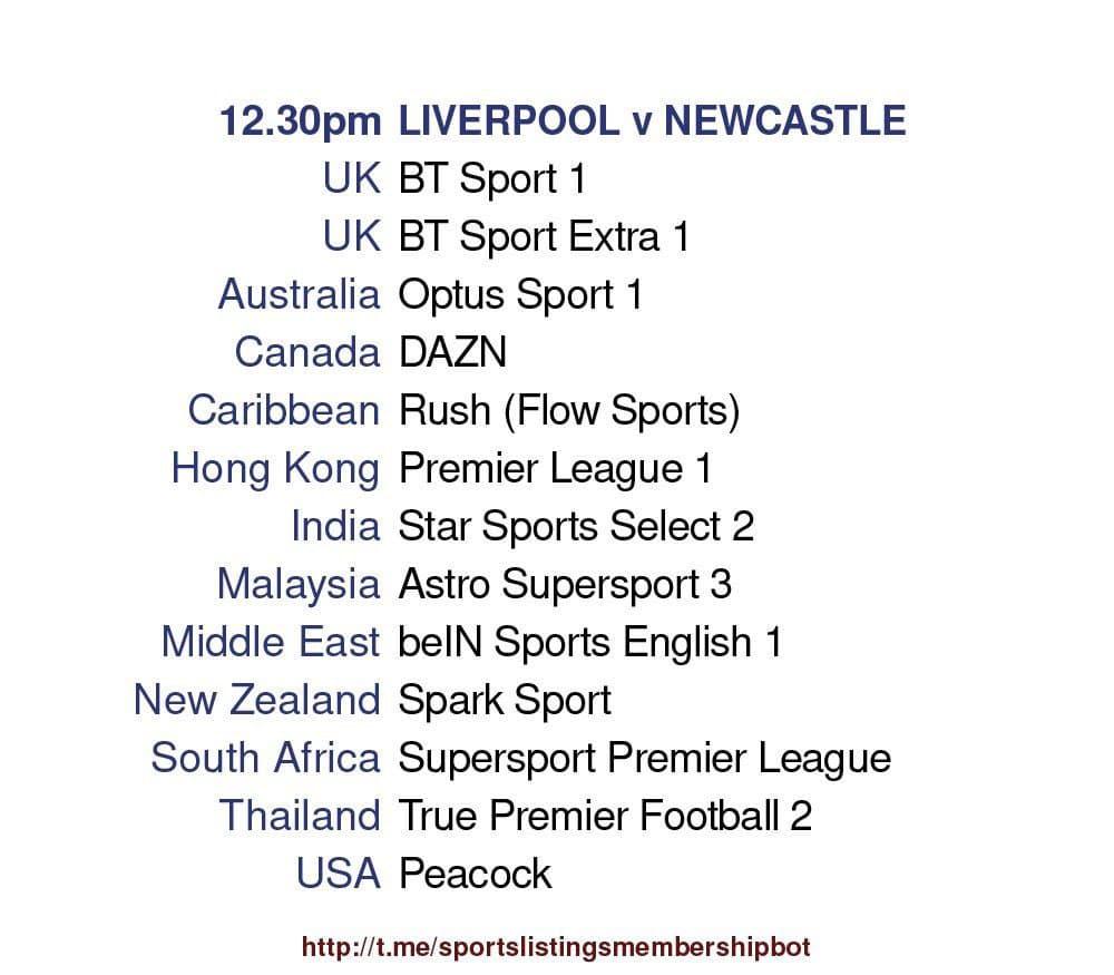 Premier League 24/4/2021 - Liverpool v Newcastle detailed