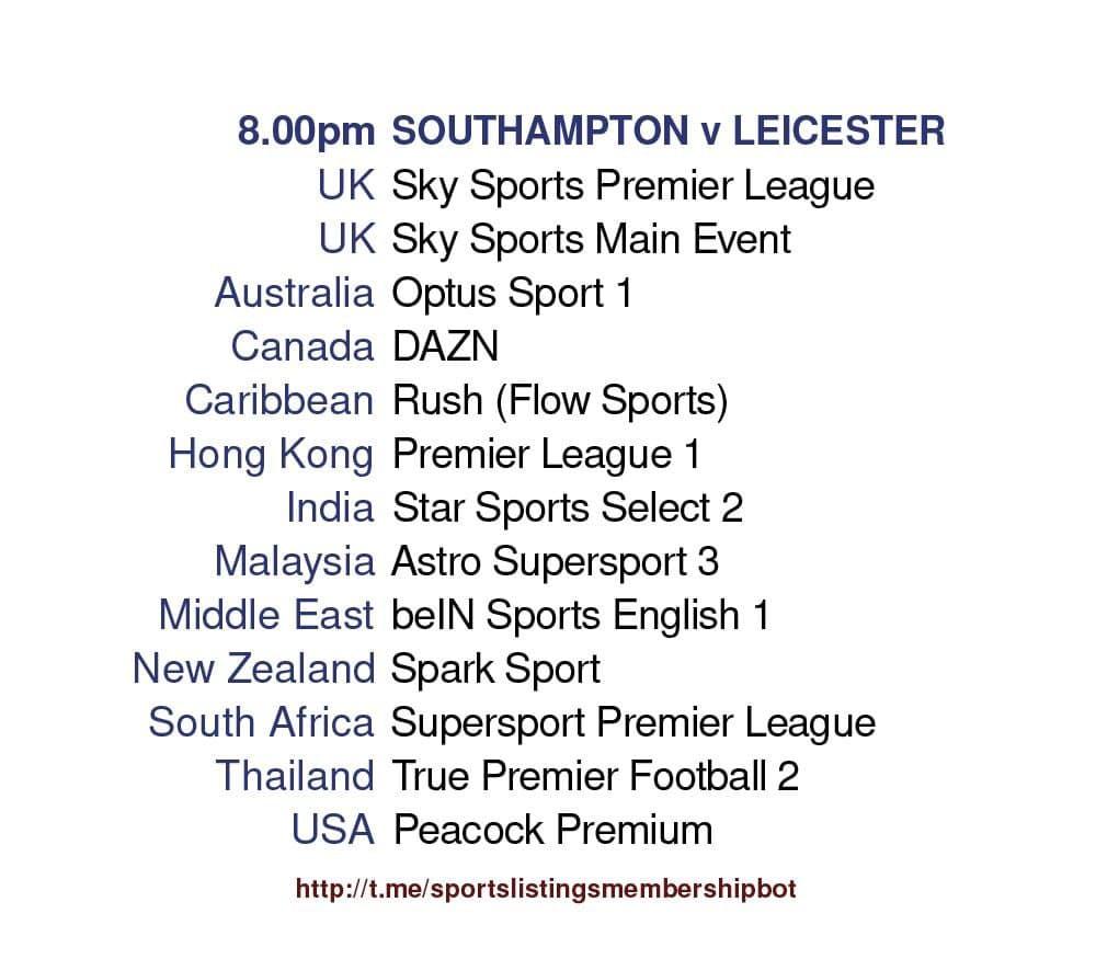 Premier League 30/4/2021 -  Southampton v Leicester City - Detailed