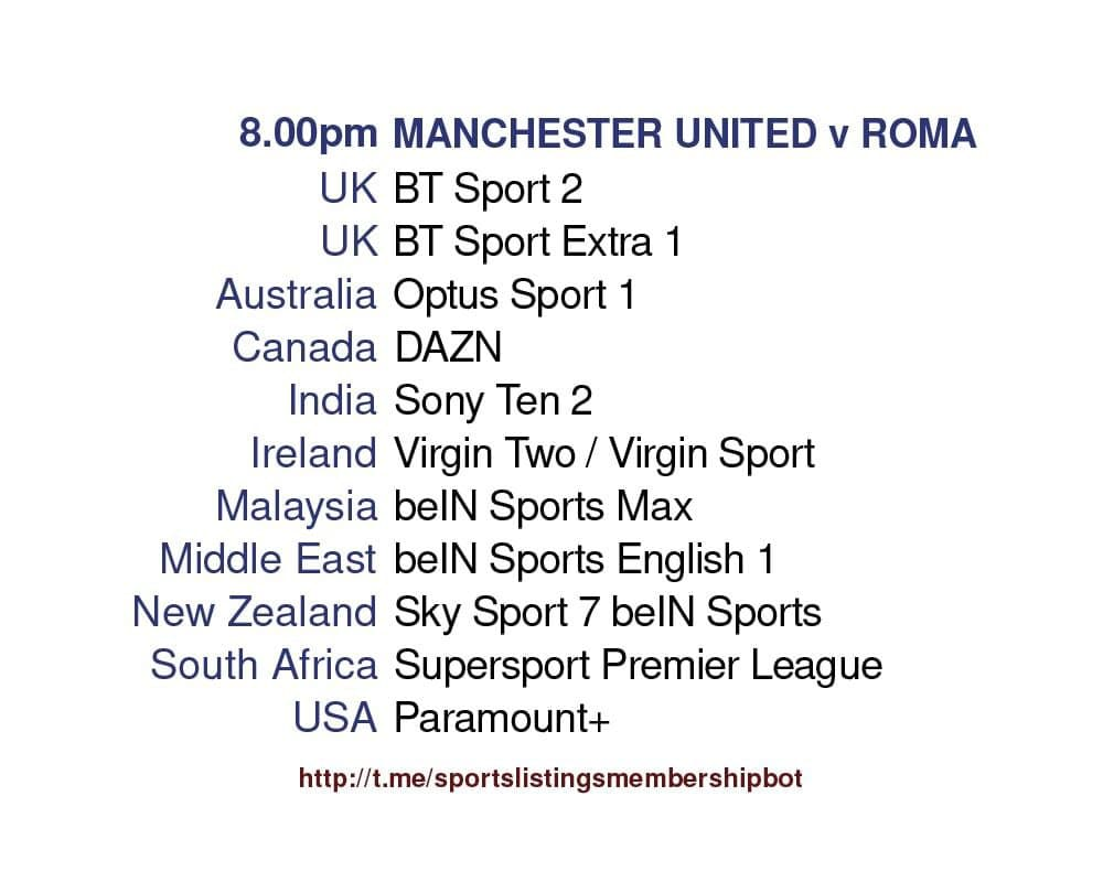 Europa League 29/4/2021 -  Manchester United v Roma  detailed