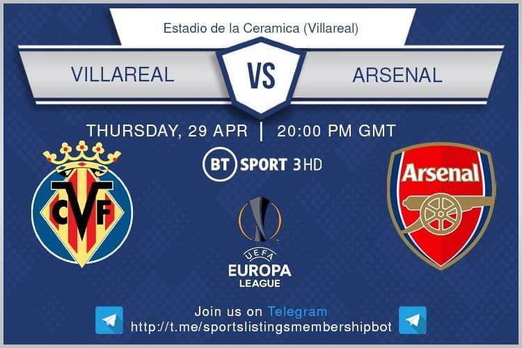 Europa League 29/4/2021 -  Villarreal v Arsenal.