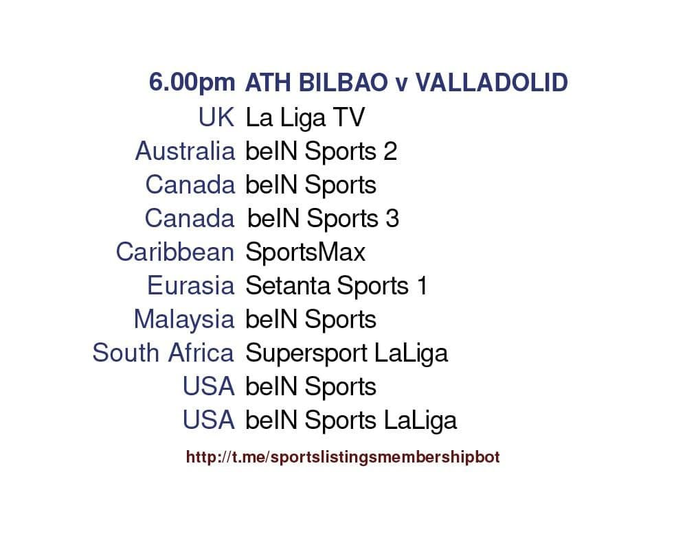Champions League 28/4/2021 - Athletic Bilbao v Valladolid detailed.
