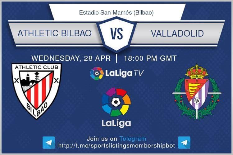 Champions League 28/4/2021 - Athletic Bilbao v Valladolid.