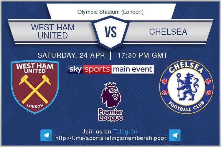 Premier League 24/4/2021 -West Ham v Chelsea