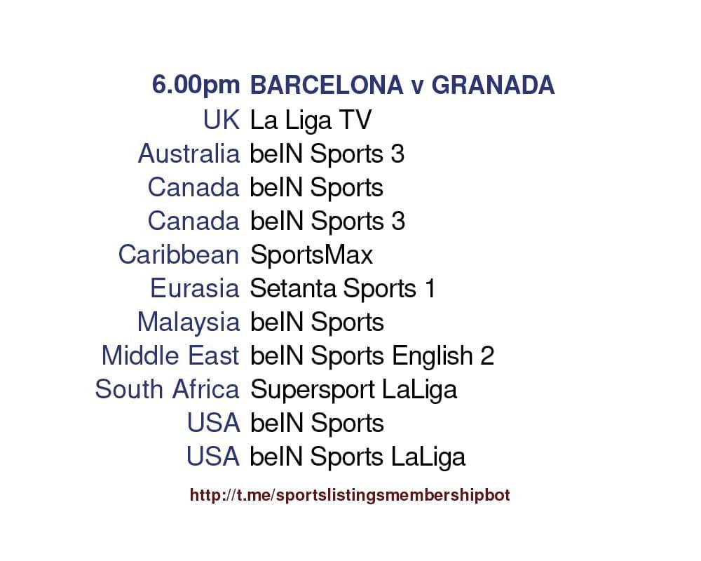 Europa League 29/4/2021 -Barcelona v Granada Detailed