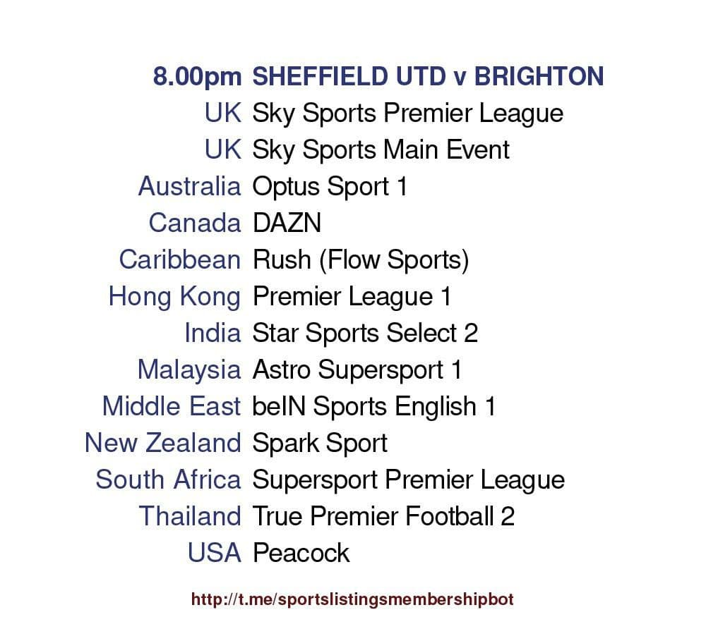 Premier League 24/4/2021 - Sheffield United v Brighton Detailed