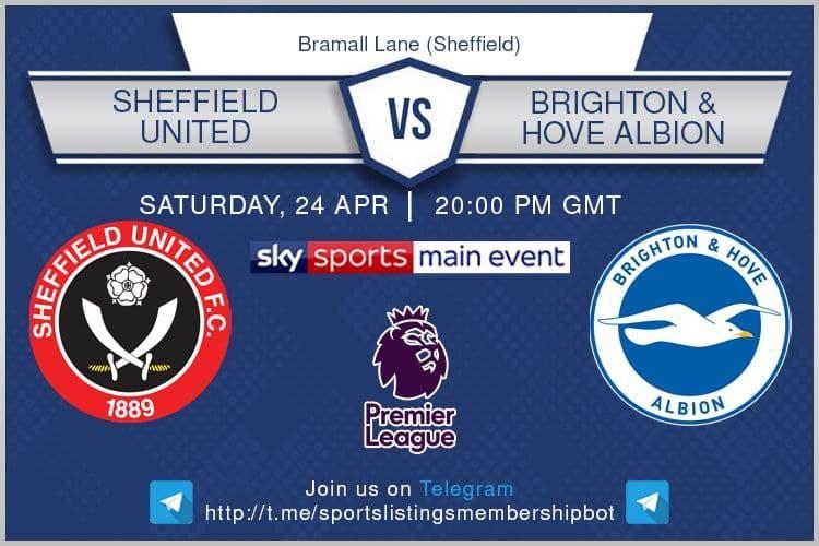 Premier League 24/4/2021 -Sheffield United v Brighton