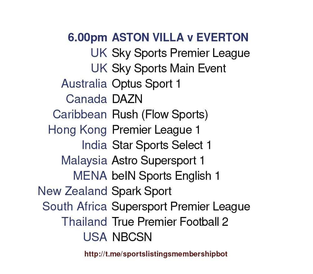 Premier League 13/5/2021 - Aston Villa v Everton Detailed