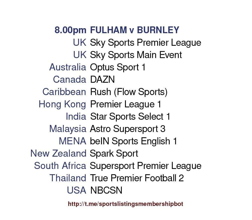 Premier League 10/5/2021 - Fulham v Burnley Detailed