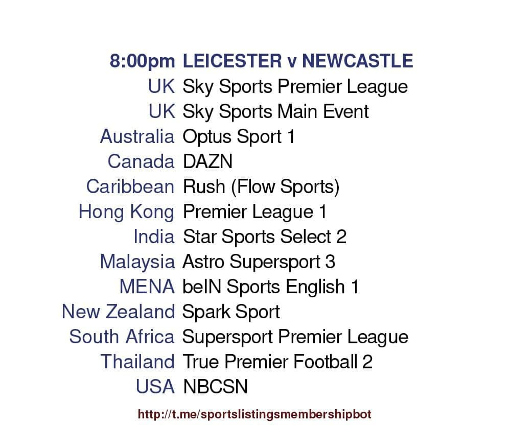 Premier League 7/5/2021 - Leicester v Newcastle United detailed