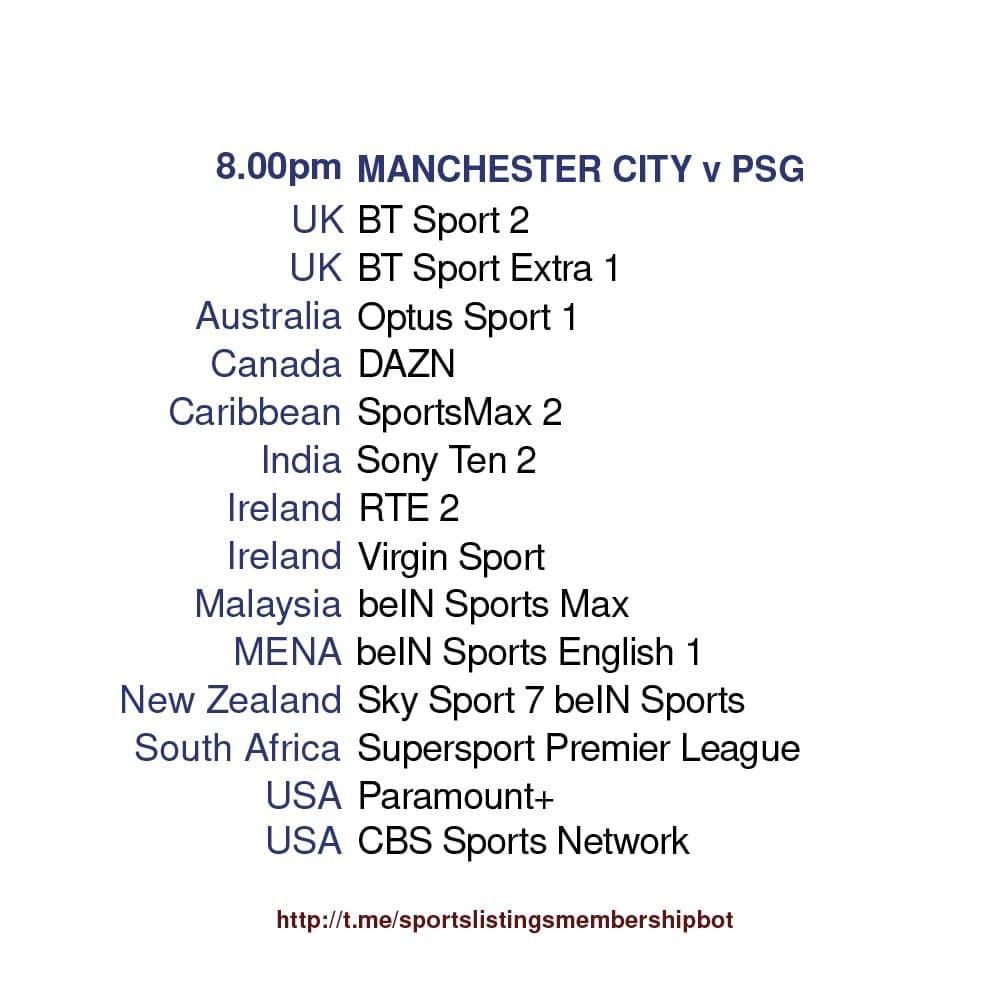 Champions League 4/5/2021 - Manchester City v Paris St-Germain Detailed.