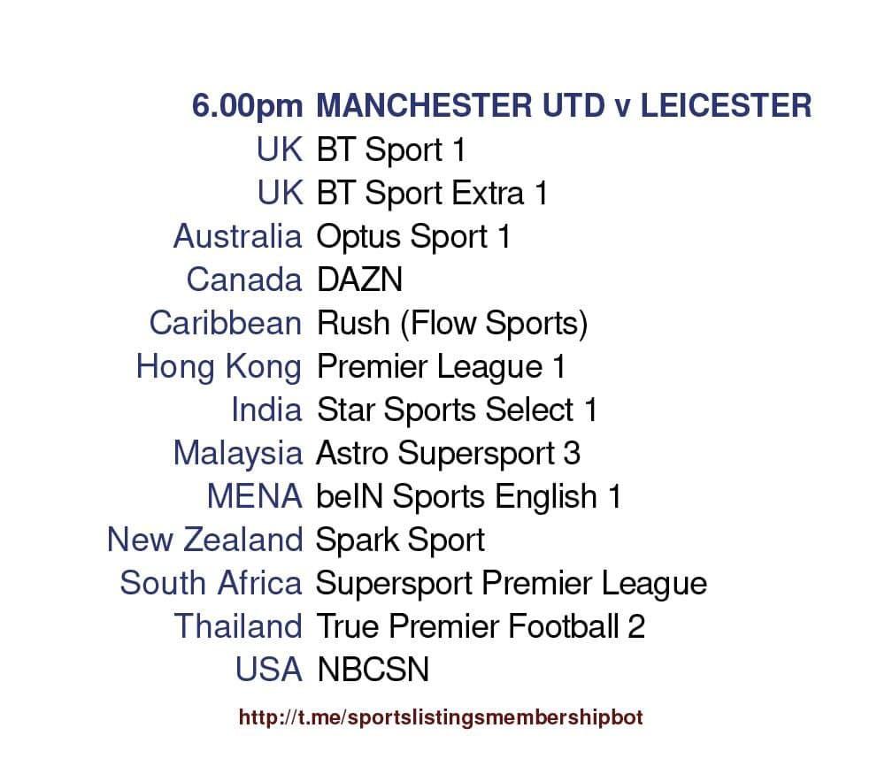 Premier League 11/5/2021 - Manchester United v Leicester detailed