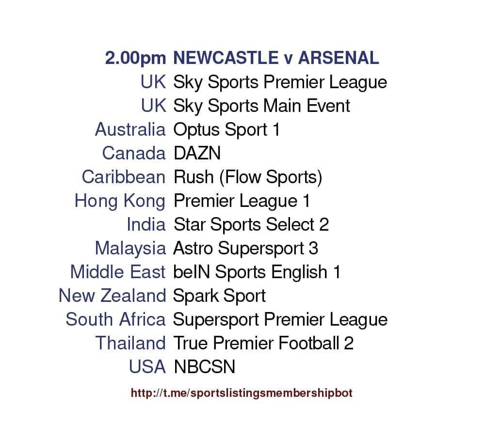 Premier League 2/5/2021 - Newcastle United v Arsenal Detailed
