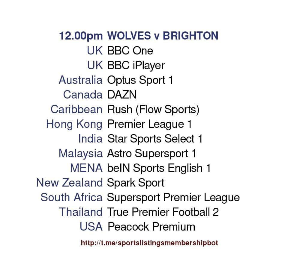 Premier League 9/5/2021 -Wolves v Brighton Detailed