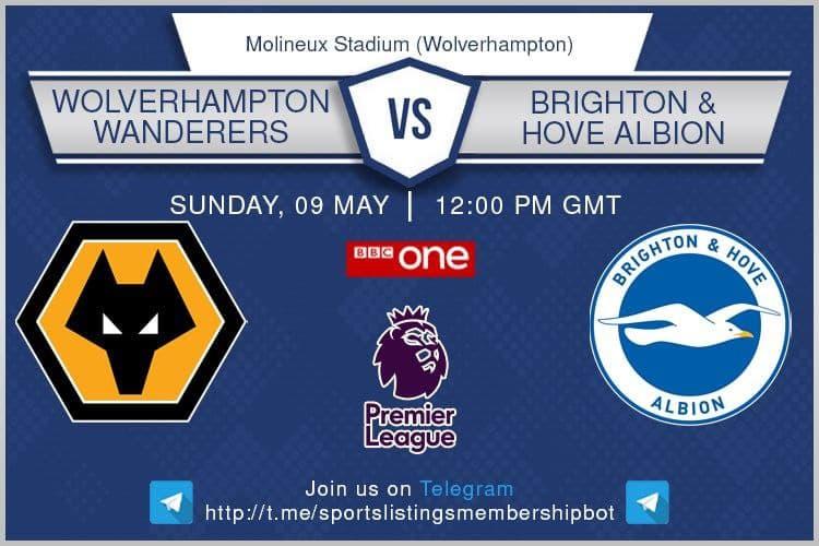 Premier League 9/5/2021 - Wolves v Brighton