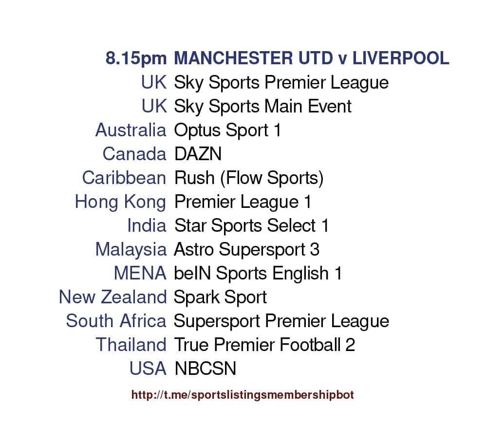 Premier League 13/5/2021 - Manchester United v Liverpool Detailed