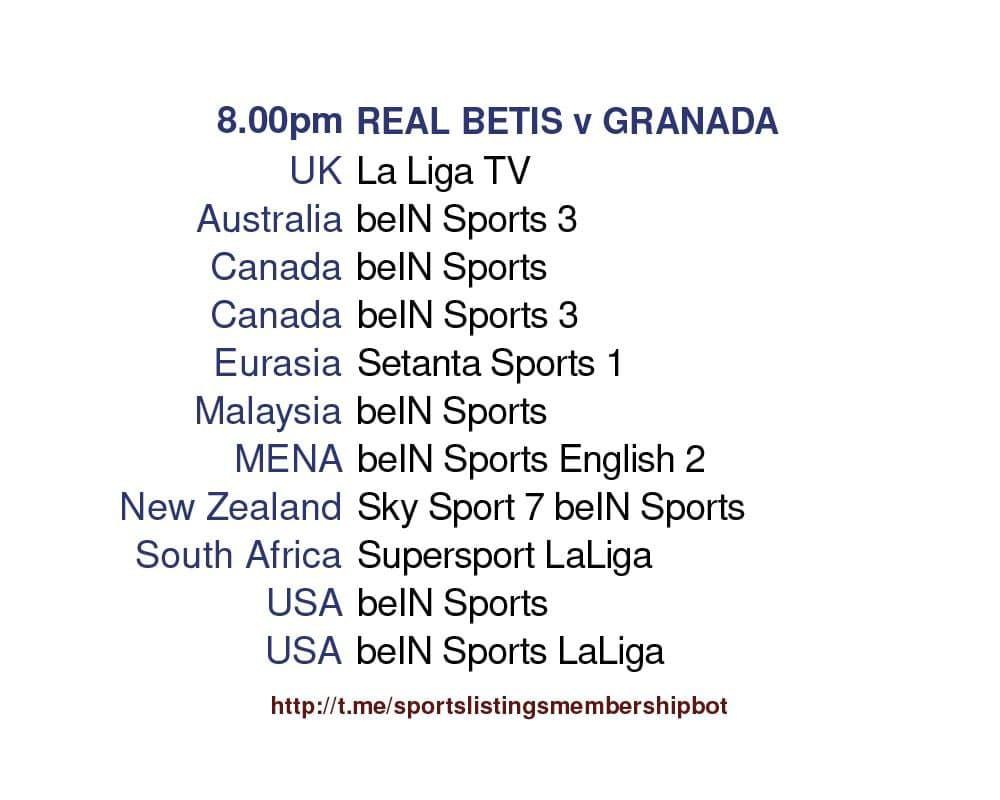 Premier League 10/5/2021 - Real Betis v Granada Detailed