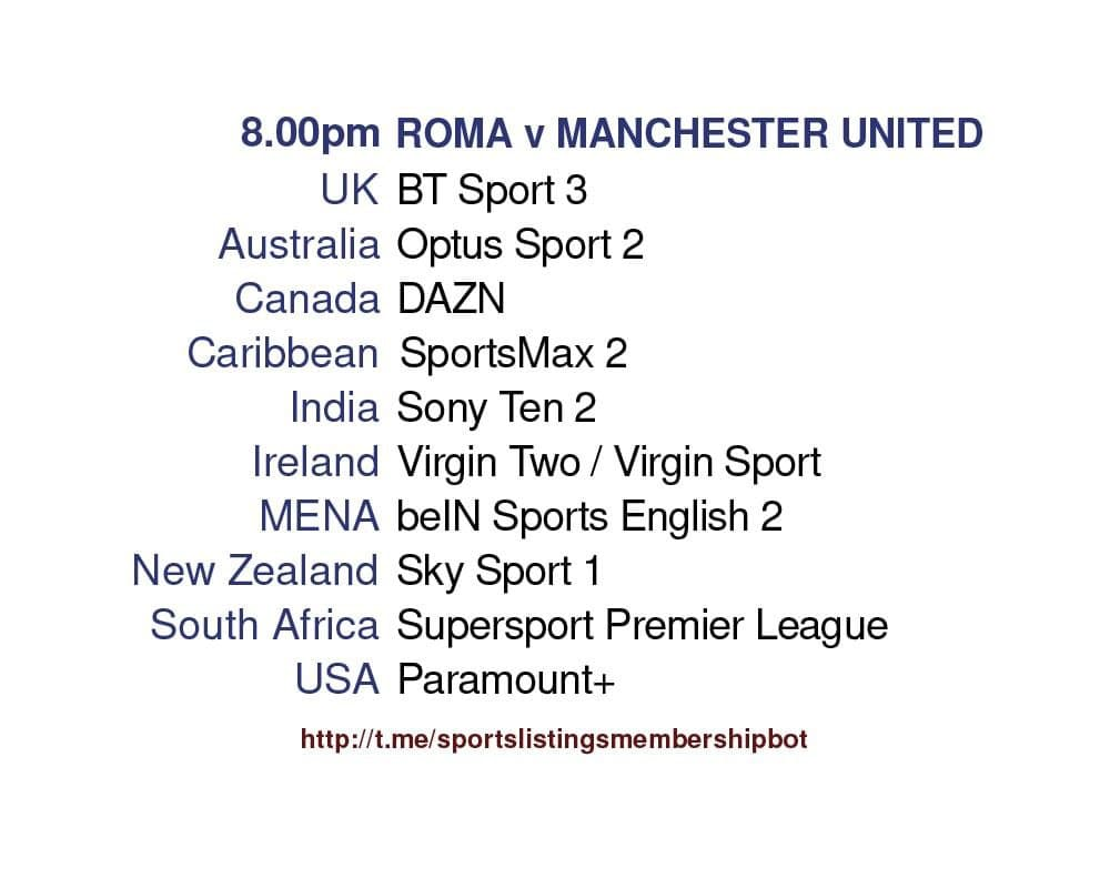Europa League 6/5/2021 - Roma v Manchester United detailed
