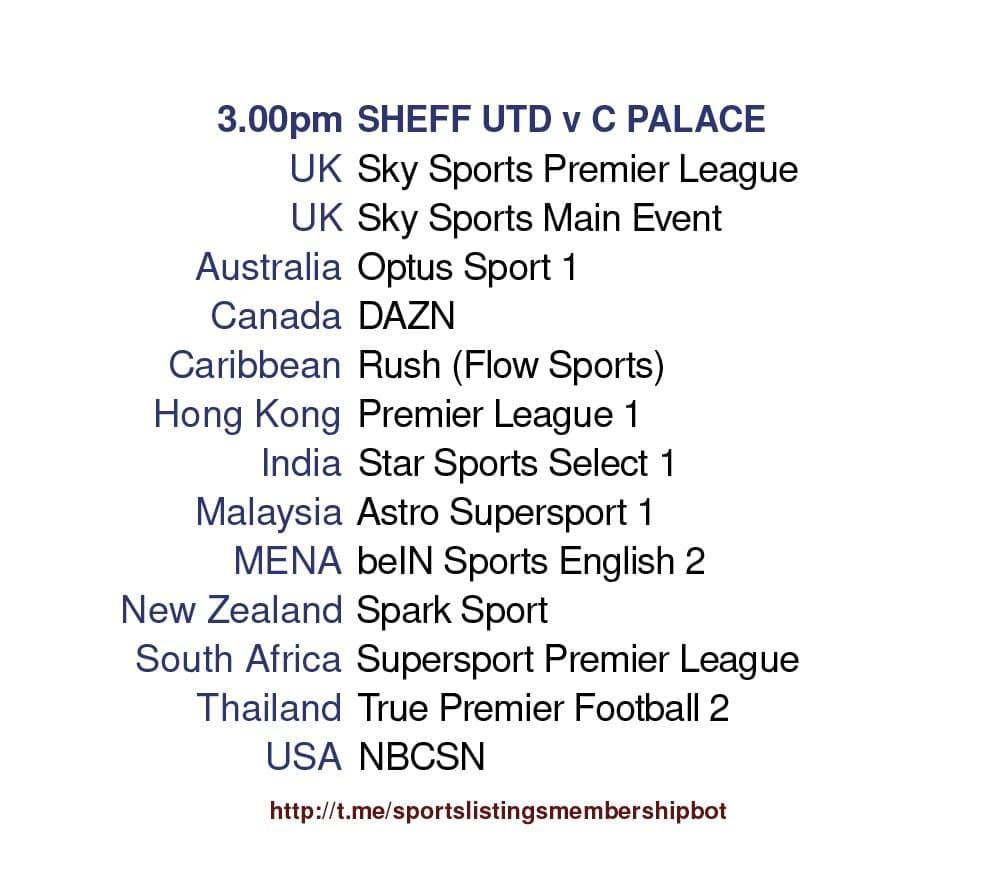 Premier League 8/5/2021 - Sheffield United v Crystal Palace Detailed