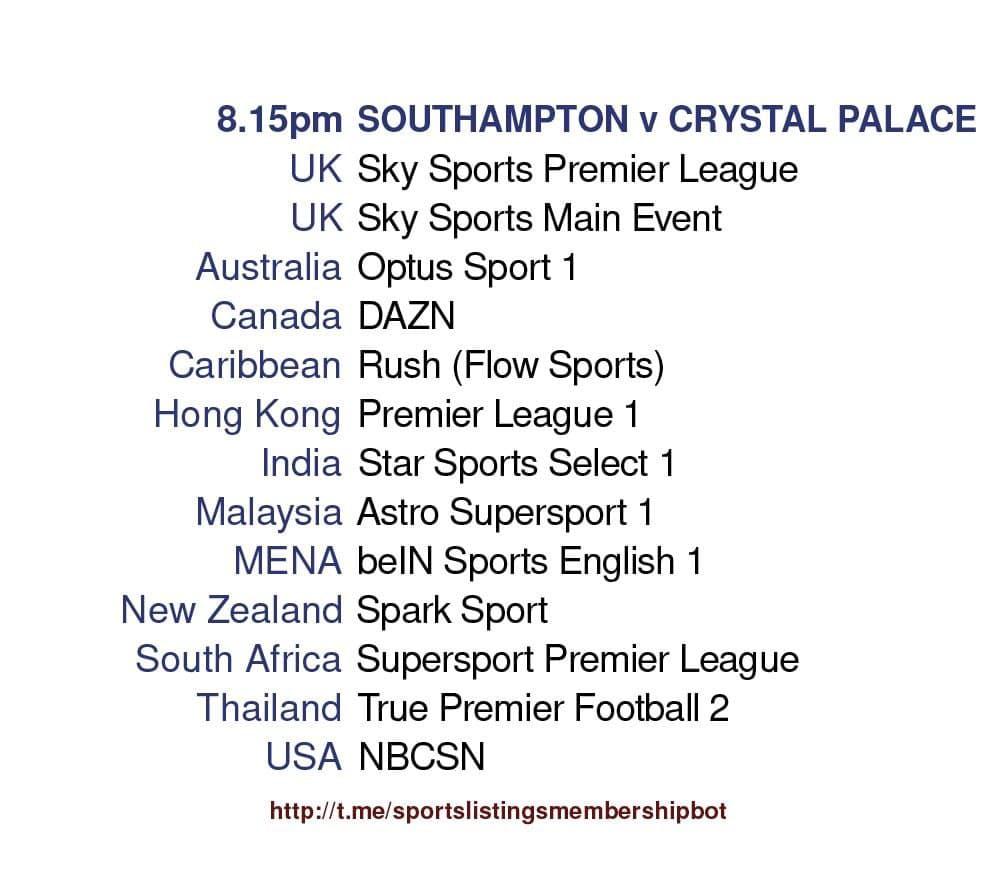 Premier League 11/5/2021 -Southampton v Crystal Palace Detailed