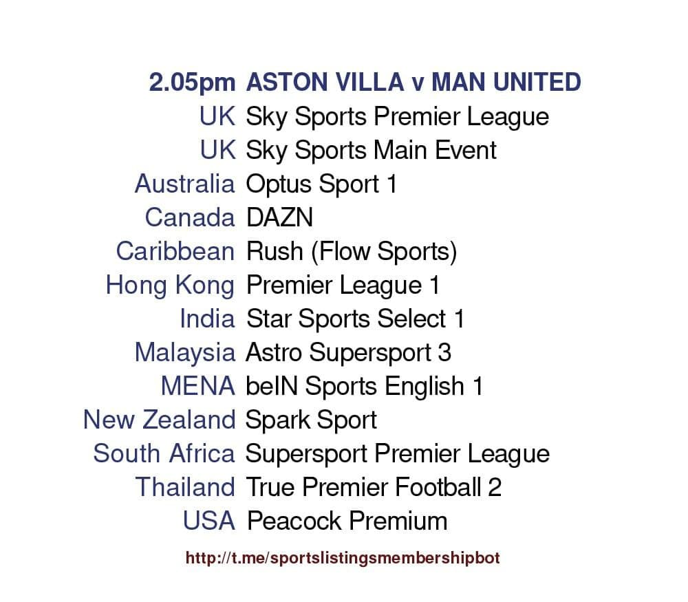 Premier League 9/5/2021 - Aston Villa v Manchester United Detailed
