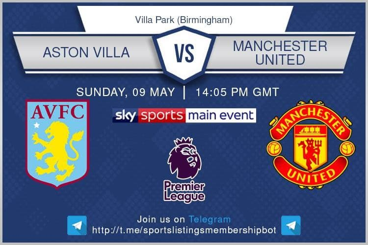 Premier League 9/5/2021 - Aston Villa v Manchester United