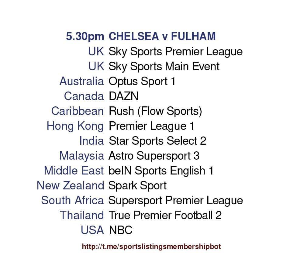 Premier League 1/5/2021 -Chelsea v Fulham Detailed