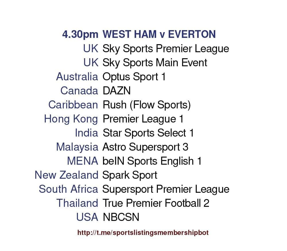 Premier League 9/5/2021 - West Ham United v Everton Detailed