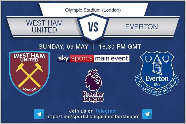 Premier League 9/5/2021 - West Ham United v Everton