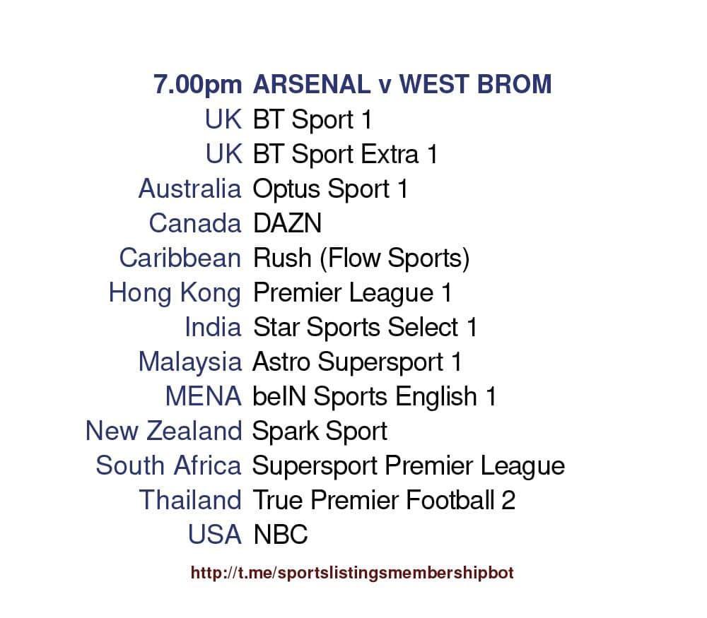 Premier League 9/5/2021 - Arsenal v West Bromwich Albion Detailed