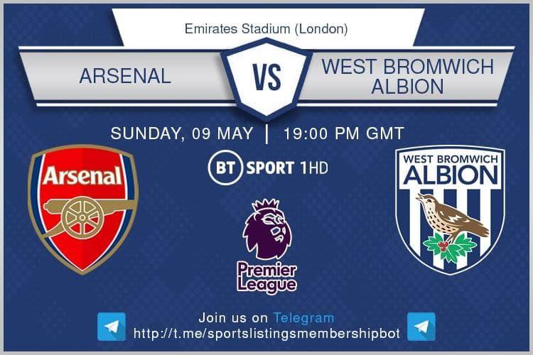 Premier League 9/5/2021 - Arsenal v West Bromwich Albion
