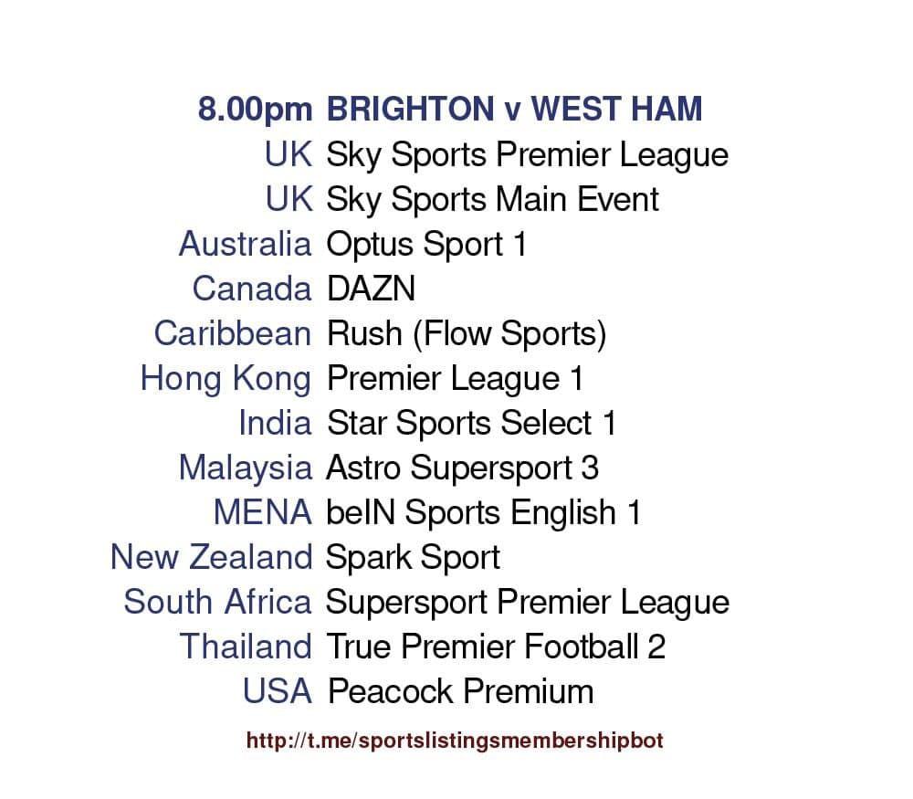 FA Cup Final 15/5/2021 & Premier League - Brighton v West Ham
