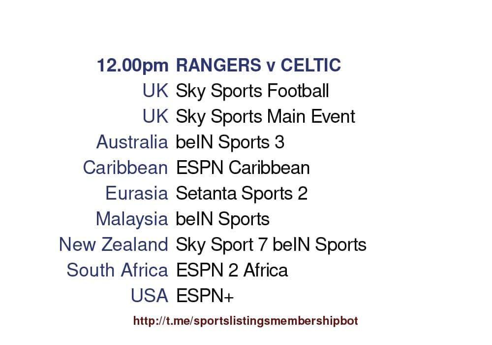 Premier League 2/5/2021 -Rangers v Celtic